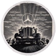 Mercedes - Benz Round Beach Towel