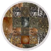Rareearth Rare Earth Stones Minerals Microphotography Micro Photography Tiled Square Silver Chrome B Round Beach Towel