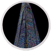 The Shard London Art Round Beach Towel