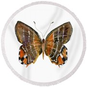 60 Euselasia Butterfly Round Beach Towel