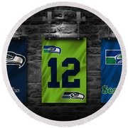Seattle Seahawks Round Beach Towel