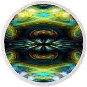609 - Lucid Infinity .... Round Beach Towel