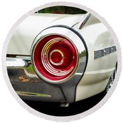 62 Thunderbird Tail Light Round Beach Towel