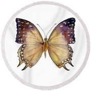 63 Great Nawab Butterfly Round Beach Towel