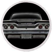 '63 Impala Round Beach Towel