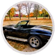 66 Corvette Stingray 427 Round Beach Towel