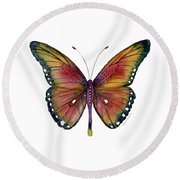 66 Spotted Wing Butterfly Round Beach Towel