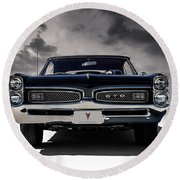 '67 Gto Round Beach Towel