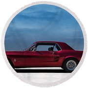 67 Mustang Round Beach Towel