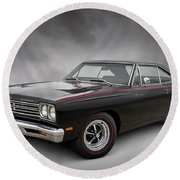 '69 Roadrunner Round Beach Towel by Douglas Pittman