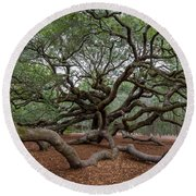 Mighty Branches Round Beach Towel
