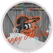 Baltimore Orioles Round Beach Towel