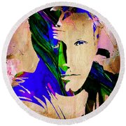 Ben Affleck Collection Round Beach Towel by Marvin Blaine