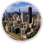 Chicago Il Round Beach Towel by Panoramic Images