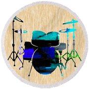 Drums Round Beach Towel