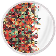 Geometric Art Round Beach Towel