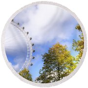 London Round Beach Towel by Joana Kruse
