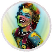 Marilyn Monroe Round Beach Towel by Mark Ashkenazi