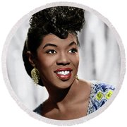 Sarah Vaughan (1924-1990) Round Beach Towel