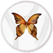 7 Yellow Gorgon Butterfly Round Beach Towel