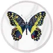 73 Citrus Butterfly Round Beach Towel