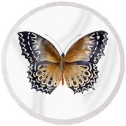 77 Cethosia Butterfly Round Beach Towel