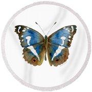 78 Apatura Iris Butterfly Round Beach Towel