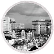 High Angle View Of Buildings In A City Round Beach Towel by Panoramic Images