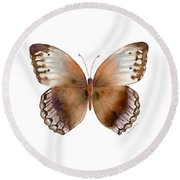 79 Jungle Queen Butterfly Round Beach Towel