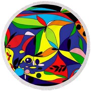 Design By Loxi Sibley Round Beach Towel