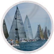 Sailboat Race Round Beach Towel