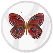 81 Paralaxita Butterfly Round Beach Towel