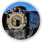844 Locomotive Round Beach Towel
