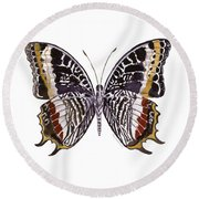 88 Castor Butterfly Round Beach Towel