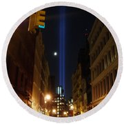 9-11-2013 Nyc Round Beach Towel