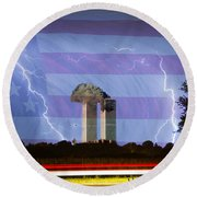 9-11 We Will Never Forget 2011 Poster Round Beach Towel