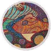 Ayahuasca Vision Round Beach Towel