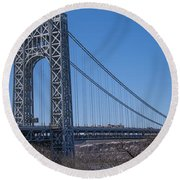 George Washington Bridge Round Beach Towel