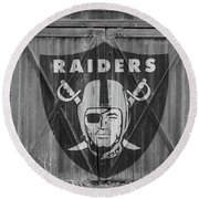 Oakland Raiders Round Beach Towel