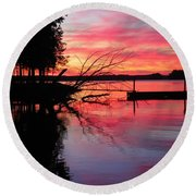 Sunset 9 Round Beach Towel
