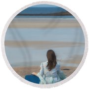 Waiting Round Beach Towel