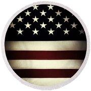 American Flag 60 Round Beach Towel