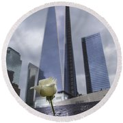 911 Memorial  Round Beach Towel by John McGraw