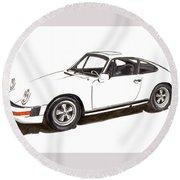 1978 Porsche 911 Round Beach Towel