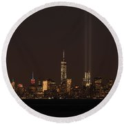 9.11.2014  View From Staten Island Round Beach Towel