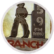 95.9 The Ranch Round Beach Towel