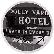 A Bath In Every Room Round Beach Towel