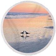 A Beach Romance Round Beach Towel