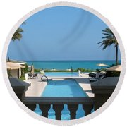 A Beautiful View Round Beach Towel