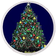 A Bedazzling Christmas Round Beach Towel
